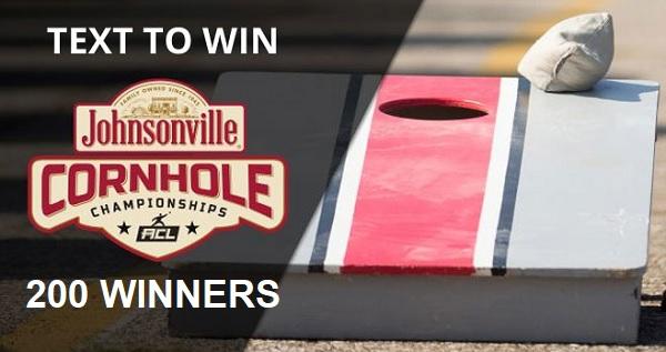 Johnsonville Cornhole Boards Sweepstakes