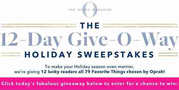 Oprah Magazine 12 Days Give-O-Way Sweepstakes