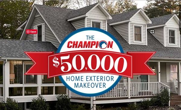 Champion Windows $50,000 Home Exteriors Makeover Giveaway