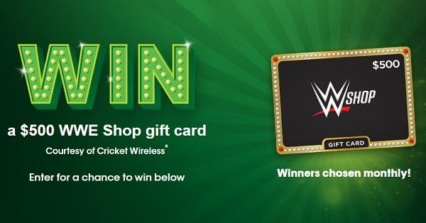 Cricket Wireless WWE Gift Card Sweepstakes