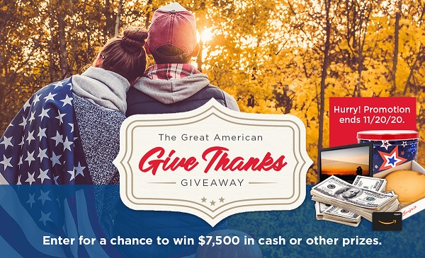 Great American Give Thanks Giveaway