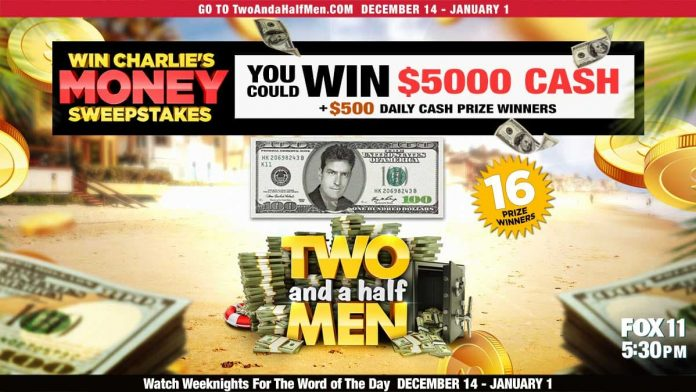 Two And A Half Men Sweepstakes Word Of The Day 2020