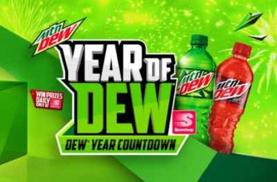 Mountain Dew Year Countdown Sweepstakes at Speedway