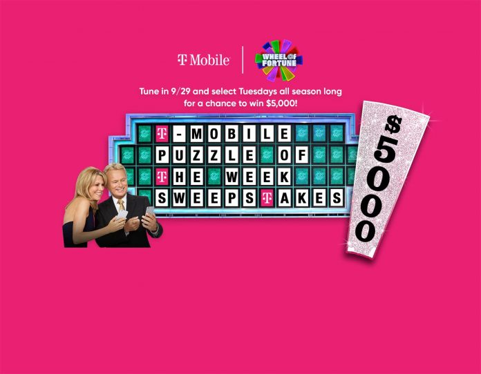 Wheel Of Fortune T-Mobile Puzzle of the Week Sweepstakes 2021